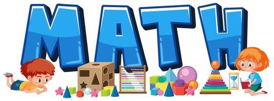 poster di matematica con elementi di matematica vettore