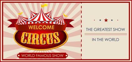 modello di biglietto a tema circo, luna park, parco divertimenti vettore