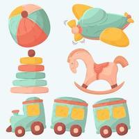 collezione disegnata a mano di giocattoli di natale