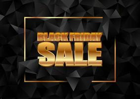 banner di vendita venerdì nero con design low poly