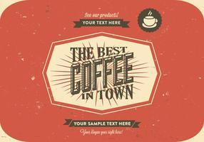 Vettore di logo del caffè graffiante