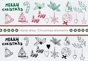 Set di Natale vettoriali gratis