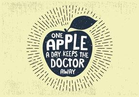 Sfondo di frutta mela disegnata a mano libera