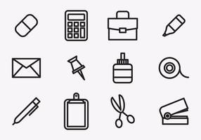 Icone stazionarie vettore