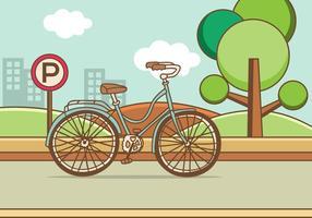 Retro illustrazione della bicicletta vettore