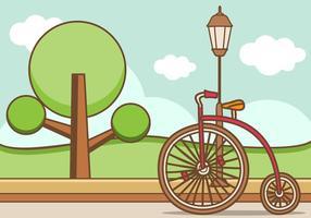 Illustrazione della bicicletta retrò vettore