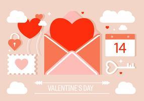Elementi vettoriali di San Valentino