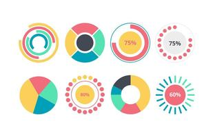 Elemento infografica grafico a torta