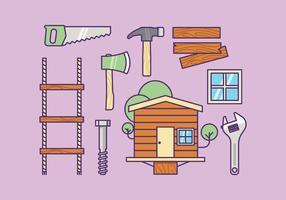 Vettore kit di fornitura Treehouse gratuito