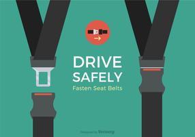 Disegno vettoriale di cintura di sicurezza gratuita