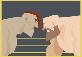 Due lottatori pronti a combattere Vector