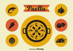 Paella icone vettoriali