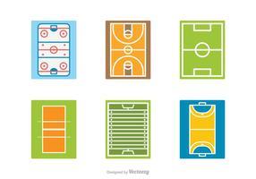 Icone vettoriali gratis campo sportivo