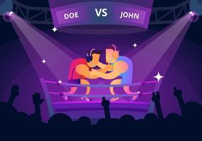 Grande incontro di boxe vettore