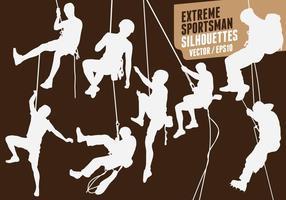 Sagome vettoriali di arrampicata