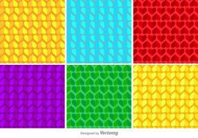 Modello di vettore di cuori geometrici