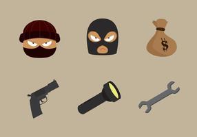 Roba vettoriale di furto e ladro