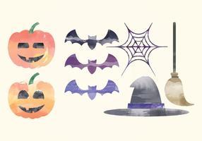Vector elementi acquerello di Halloween