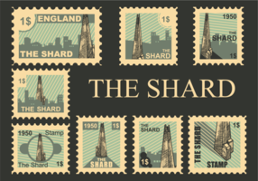 il vettore di francobolli shard