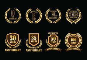 Distintivi di vettore di anniversario
