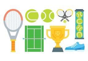 Vettore libero delle icone di tennis