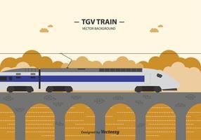 Sfondo gratuito del treno Tgv vettore