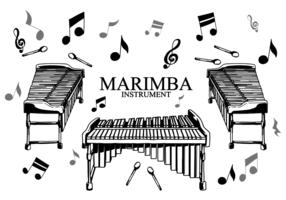 vettore strumento marimba