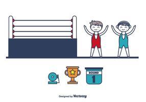 vettore di icone di wrestling