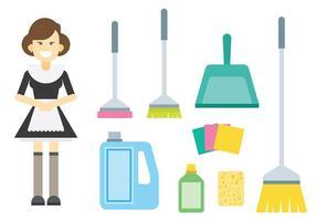Vettore francese libero delle icone della domestica