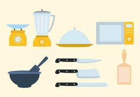 Vettore di utensili da cucina gratis