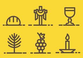 Vettore di icone di settimana santa gratis