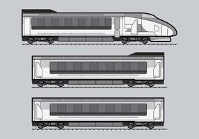 Vettore del treno del TGV