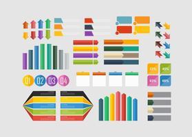 Elemento piatto infografica vettore