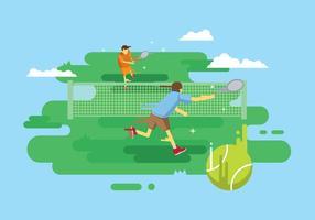 Illustrazione di tennis gratis vettore