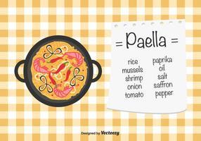 Paella vettoriale sfondo