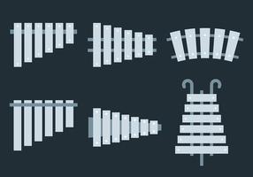 Marimba icone vettoriali gratis