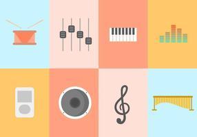 Collezione musicale gratuita vettore