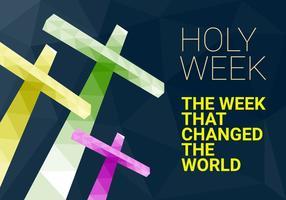 Illustrazione vettoriale gratis di settimana santa