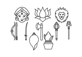 Durga vettoriale gratuito