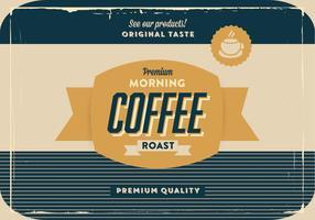Vettore di caffè oro e blu marino