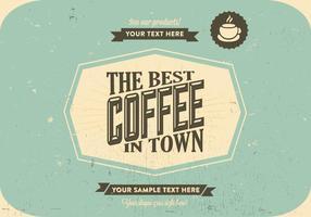 Miglior caffè in città Vintage Vector