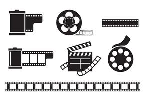 vettore della scatola metallica del film