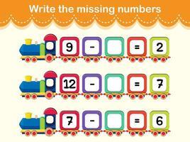 scrivere il concetto di treno dei numeri mancanti vettore