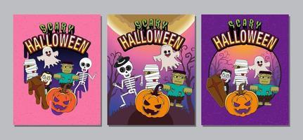 set copertina di halloween