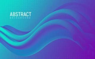 gradiente astratto 3d forma liquida design vettore