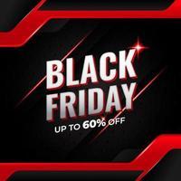 banner di vendita di social media venerdì nero