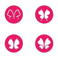 set di farfalle di bellezza