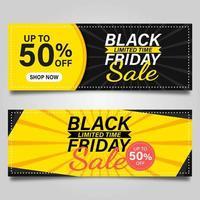 concetto di coupon venerdì nero vettore