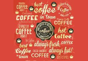 Vettore macchiato caffè