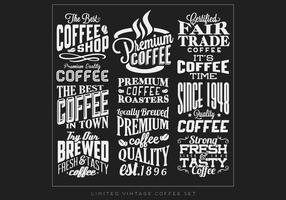 Vettore di segni di caffè